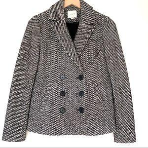 LOFT Double Breasted Tweed Wool Short Coat size XS